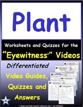 A Differentiated Bundle - Worksheet, Quiz, Ans for 38 Eyewitness * Videos