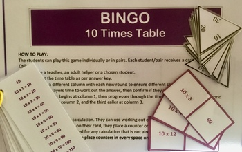 Differentiated Bundle of 10 Times Tables Activities and Challenges