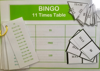 Differentiated Bundle of 11 Times Tables Activities and Challenges