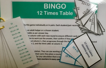 Differentiated Bundle of 12 Times Tables Activities and Challenges