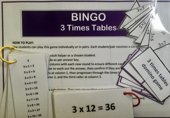 Differentiated Bundle of 3 Times Tables Activities and Challenges