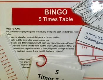Differentiated Bundle of 5 Times Tables Activities and Challenges