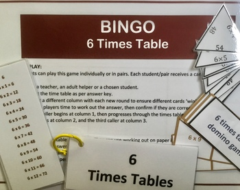 Differentiated Bundle of 6 Times Tables Activities and Challenges