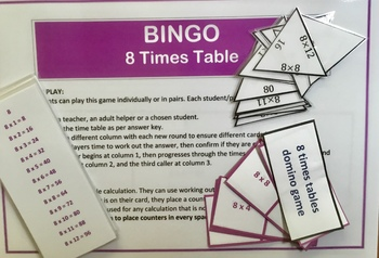 Differentiated Bundle of 8 Times Tables Activities and Challenges