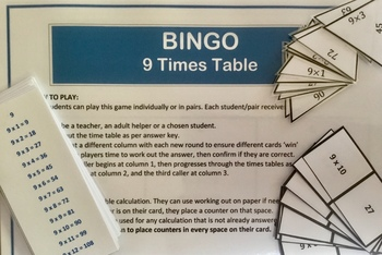Differentiated Bundle of 9 Times Tables Activities and Challenges