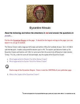 Differentiated Byzantine Reading and Mosaic Assignment