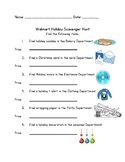 Differentiated Community Based Instruction (CBI) Walmart Holiday Scavenger Hunt