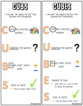 picture regarding Cubes Math Strategy Printable called Cubes Approach Bookmarks Worksheets Coaching Supplies TpT