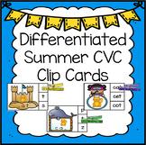 Summer Ocean CVC Word Clip Cards