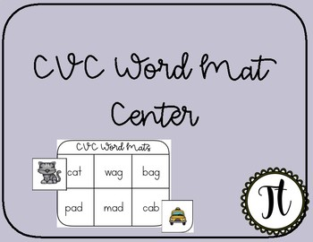 Differentiated CVC Literacy Center