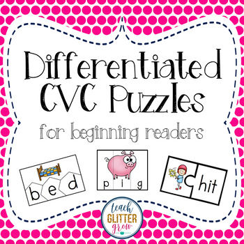 Differentiated CVC Puzzles for Beginning Readers