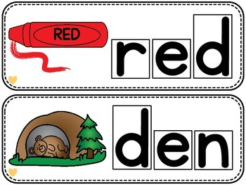Differentiated CVC Word Builders (Short E)