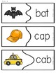Differentiated CVC Word Puzzles Short Vowels