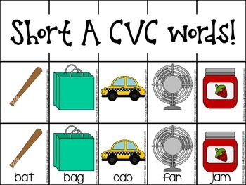 Differentiated CVC word writing