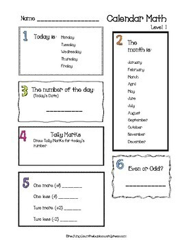 Differentiated Calendar Math