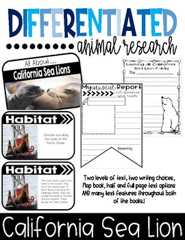 Differentiated California Sea Lion Research Books