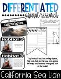 Differentiated California Sea Lion Research Books