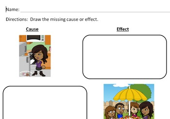 Differentiated Cause and Effect Graphic Organizers