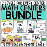 Differentiated Math Centers Bundle for 1st & 2nd Grade #tp
