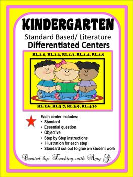 Kindergarten Differentiated Centers for Literature Standards