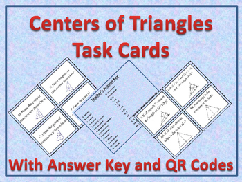 Differentiated Centers of Triangles Task Cards With QR Cod