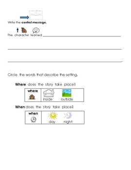 Differentiated Central Message Response to Reading (Beg of Year)