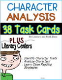 Differentiated Character Analysis Task Cards and Literacy Centers