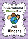 Differentiated Choice Board: Bell Ringers (Spanish and English)