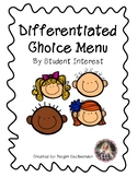 ESL Differentiated Choice Menu (For Student Interest)