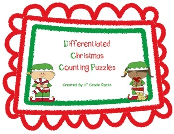 Differentiated Christmas Counting Puzzles