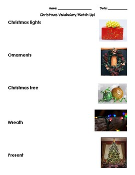 Differentiated Christmas Match Up!