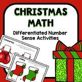 Differentiated Christmas Number Sense Math for Preschool &