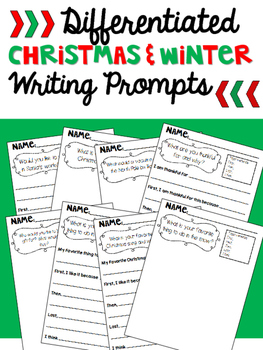 Differentiated Christmas (Winter) Writing Prompts