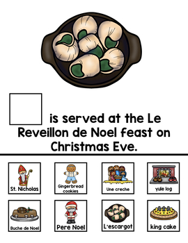 Differentiated Christmas in France Interactive Book & Close Reading Flip Flap
