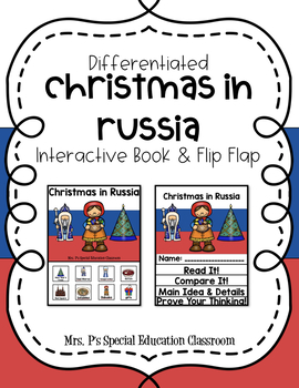 Differentiated Christmas in Russia Interactive Book & Close Reading Flip Flap