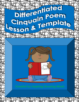 Differentiated Cinquain Poem Lesson, Posters, and Templates