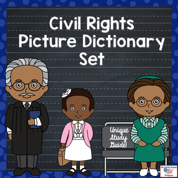 Differentiated Civil Rights Movement Vocabulary Picture Di