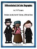 Civil War Biographies (Set 1) Differentiated