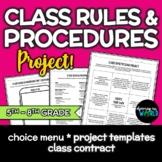 Classroom Management Rules & Procedure Project