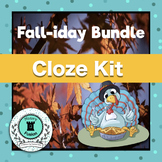 Differentiated Cloze Kit-Fall Holiday Bundle
