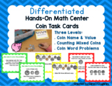 Differentiated Coin Task Cards for Hands-On Math Center