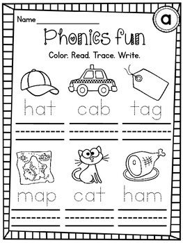CVC Words Differentiated Worksheets Pack