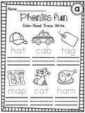 Writing CVC Words Worksheets Pack (Differentiated Tracing Short Vowels Words)