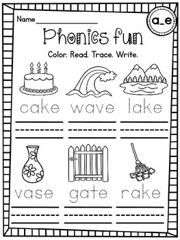 CVCe Words Differentiated Worksheets