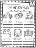 CCVC Worksheets (Tracing & Writing Initial Blends Words)
