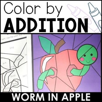 Differentiated Color by Addition | Worm in Apple