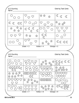 Differentiated Coloring Task Cards - 1st Grade Math Common Core