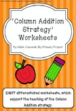 Differentiated Column Addition Worksheets