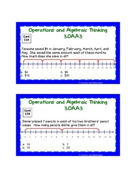 Differentiated Common Core Math Grade 3 Task Cards 3.OA.A.3