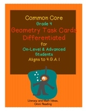 Differentiated Common Core Math Grade 4 Task Cards 4.G.A.1